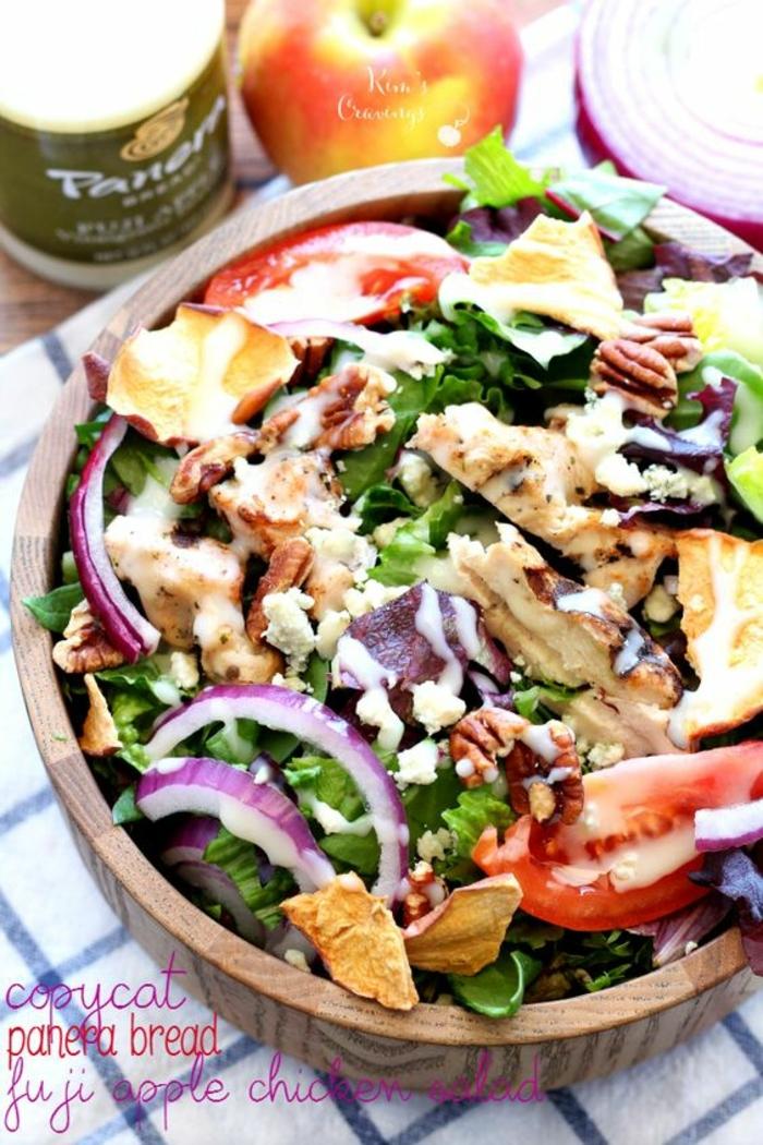 ensaladas ricas proteicas con carne, ideas de recetas proteicas faciles y rapidas, platos para comer despues de entrenar