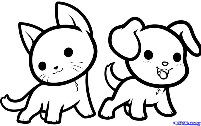 dibujo de gato y perro, dibujos para colorear de disney y dibujos de animales, dibujos para colorear de niños chulos