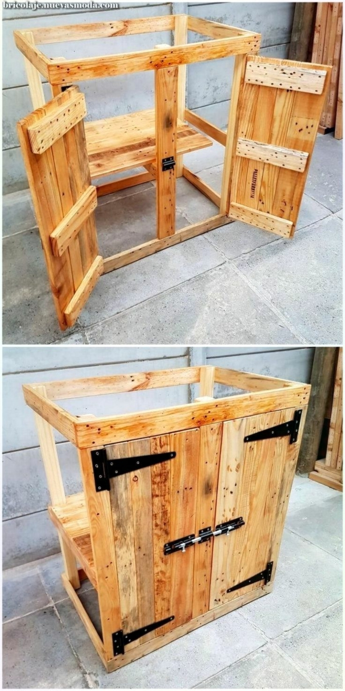 como hacer muebles de palets funcionales y modernos para la terraza, ideas de decoracio de terrazas con muebles de palets