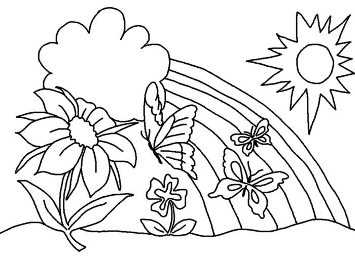 animales para colorear y paisajes de primavera bonitos para descargar, imprimir y pintar, fotos de diubjos originales y chulos