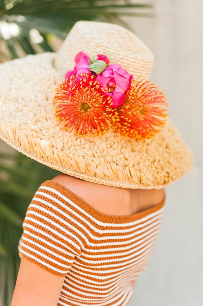 precioso sombrero decorado con flores, regalos para el dia de la madre caseros, ideas de cosas originales y faciles