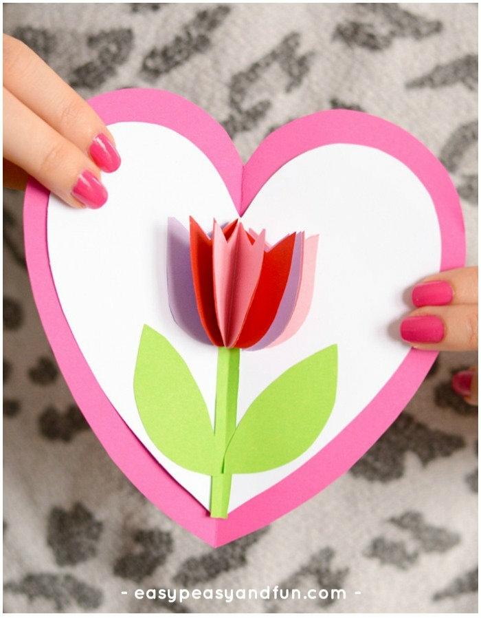 propuestas unicas de regalos para el dia de la mama, tarjetas dia de la madre originales, manualidades para el dia de la madre faciles