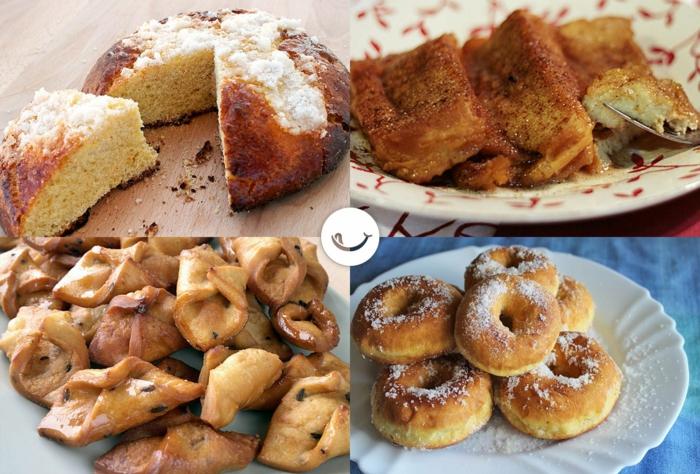 cuatro propuestas de recetas españolas tradicionales para hacer en casa, como hacer panquemao y rosquillas caseras