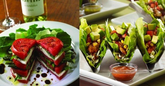 ideas de almuerzos fitness con vegetales, aguacate y queso mozzarella, ideas de recetas fitness originales en imagenes