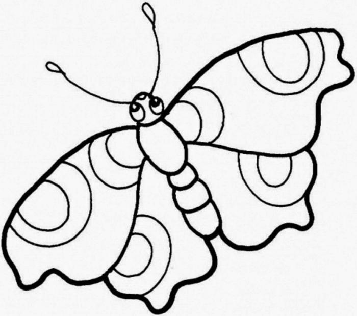 dibujos para colorear e imprimir, como dibujar una mariposa bonita, fotos de dibujos sencillos y originales para descargar