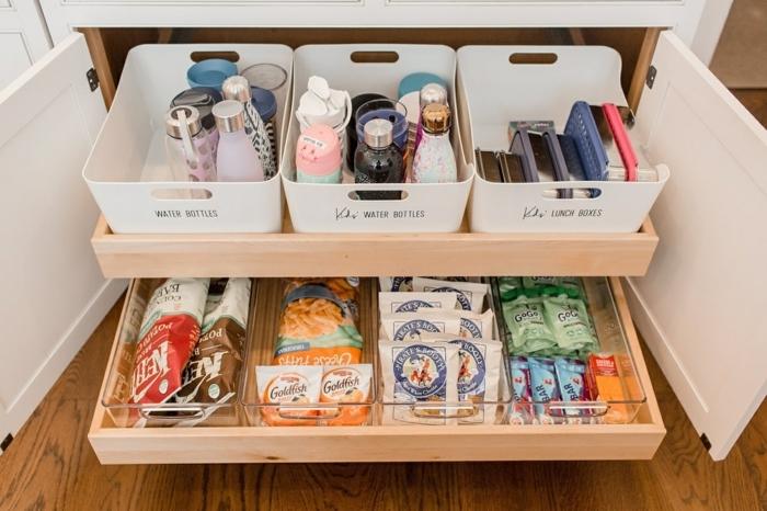 cajas para almacenar cosas en la cocina, organizador cajones cocina, fotos con ideas de almacenaje en la cocina