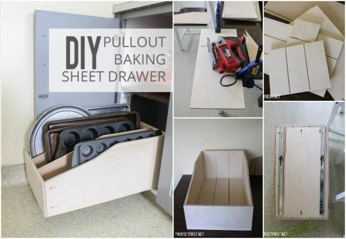 las mejores ideas de almacenaje en la cocina, muebles de bricolaje de madera DIY, organizador cajones cocina en fotos