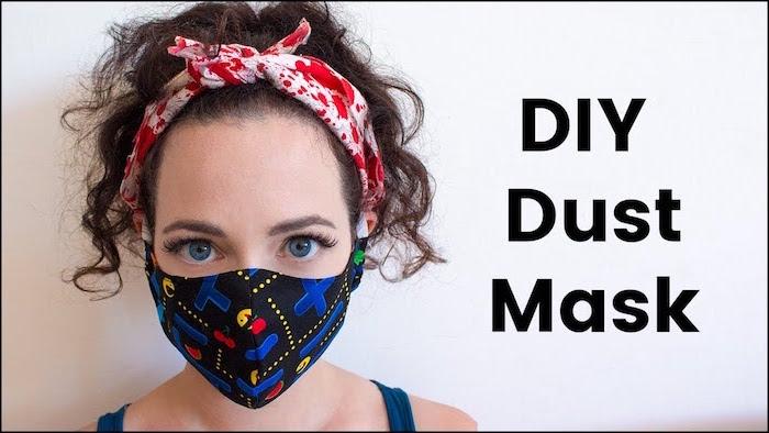 mascara de respiracion para protegerte de los viruses y bacterias, como hacer una mascara de tella estampada paso a paso