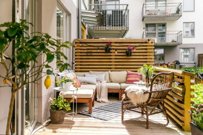 ideas de decoracion terraza chill out, muebles modernos y comodos. decoracion con plantas verdes, ideas para terrazas mediterraneas