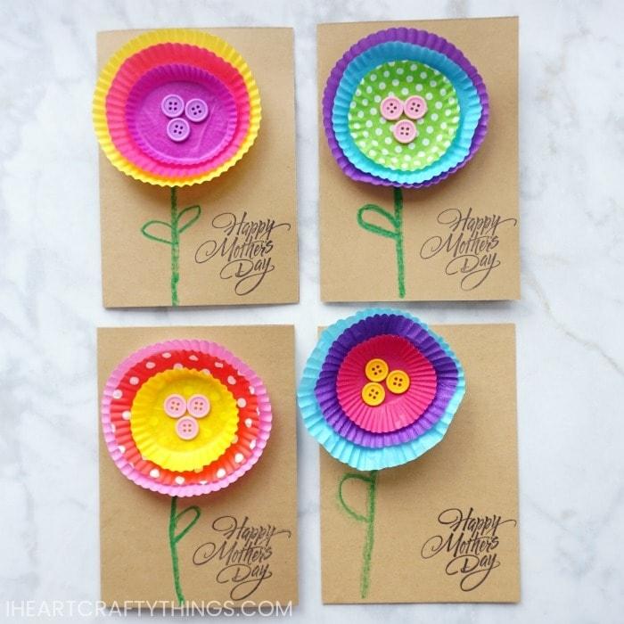 ideas de tarjetas dia de la madre, bonitas tarjetas con reciclaje, fotos de detalles para el dia de la madre bonitas y faciles