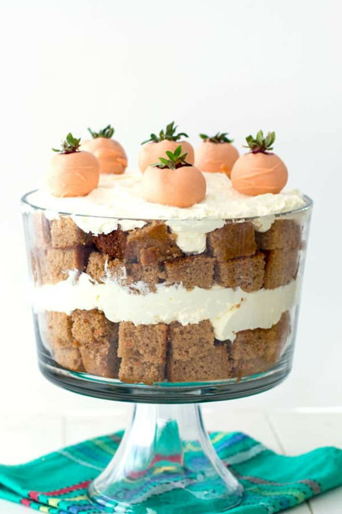 como hacer tarta de zanahoria con nata, postres faciles y rapidos de hacer en casa, ideas de recetas de postres para toda la familia