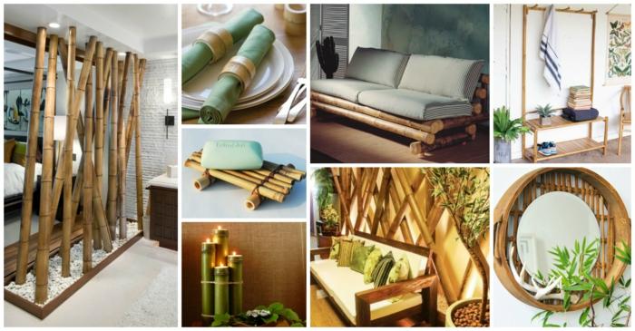 8 ideas de muebles hechos con bambu, separadores de ambientes originales y bonitos, detalles decorativos en estilo zen