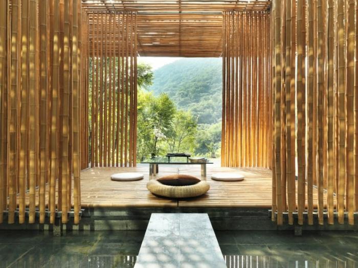 preciosos espacios decorados en estilo zen con bambú, ideas para decorar la casa en bonitas fotos, ideas para decorar una habitacion