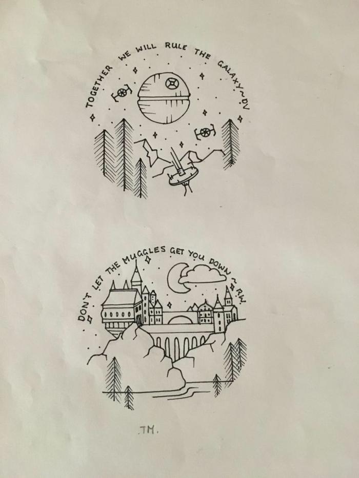 fantasticas ideas sobre como hacer dibujos de harry potter originales y faciles de hacer, pequeñas cosas para redibujar