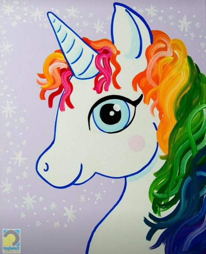 alucinantes ideas sobre como dibujar un unicornio, 70 originales ideas de unicornio para dibujar, fotos de dibujos chulos