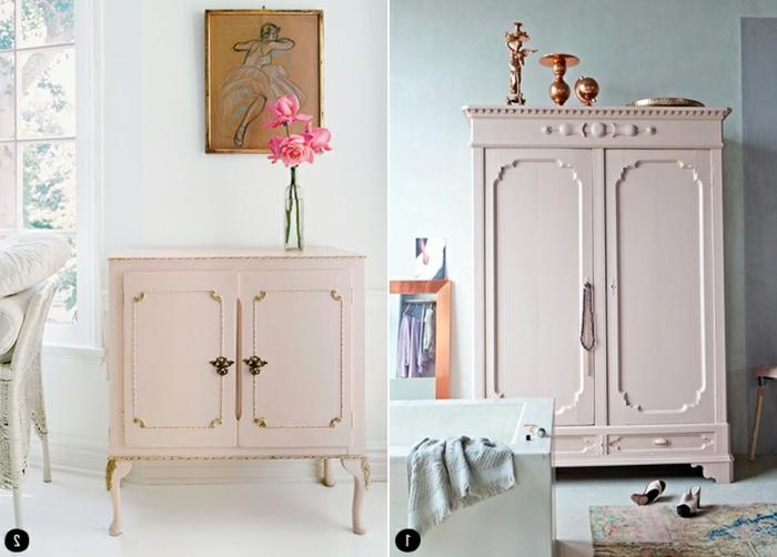geniales ideas sobre como pintar los muebles viejos que tienes en casa, muebles pintados a la tiza, fotos de muebles DIY
