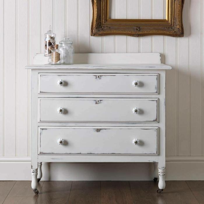 ideas para pintar muebles en blanco, geniales ideas de muebles pintados a la tiza, fotos de muebles pintados originales