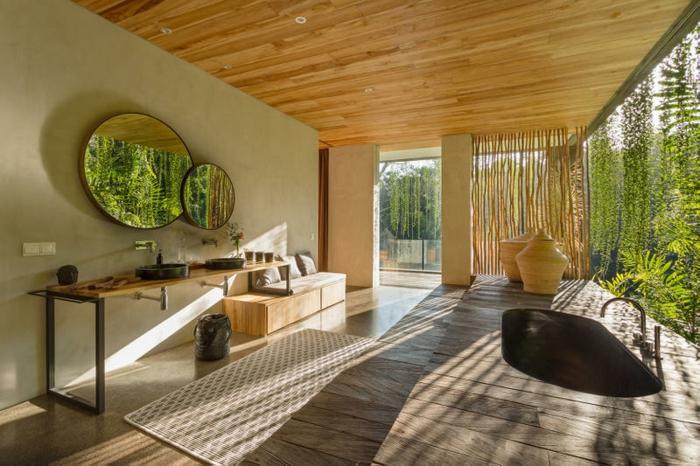 cañas bambu decoracion, fotos de casas decoradas con bambu, ideas para decorar la casa, separadores de ambientes de bambu