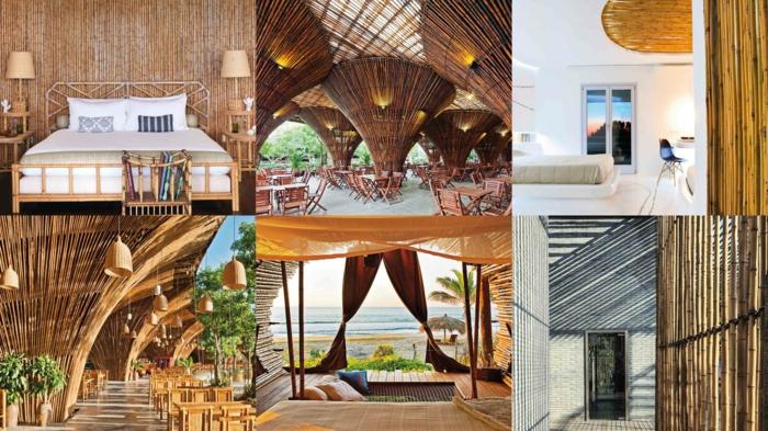 seis ejemplos de ambientes decorados con mucho encanto con decoracion zen con bambu, cañas de bambu decoracion