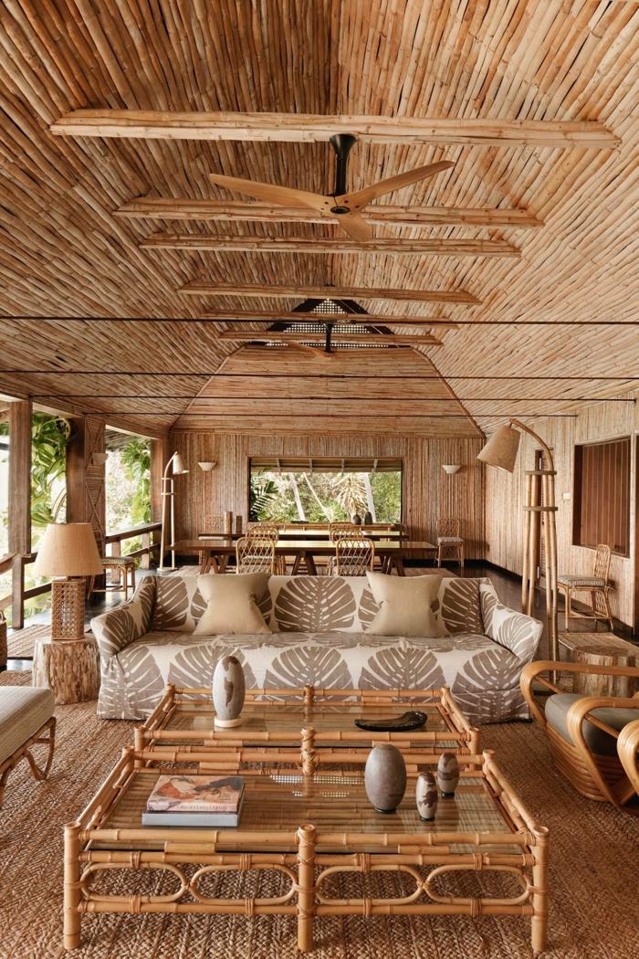 adorables ejemplos de habitaciones decorados con mucho encanto con muebles y decoracion zen, cañas de bambu decoracion