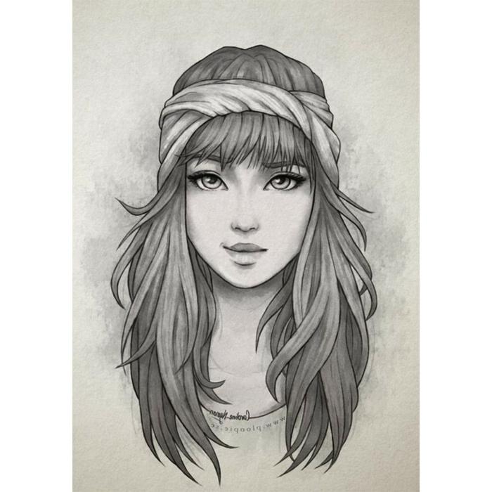 geniales ideas de dibujos de mujeres y chicas, ideas de dibujos en blanco y negro, dibujos de paisajes, dibujos realistas