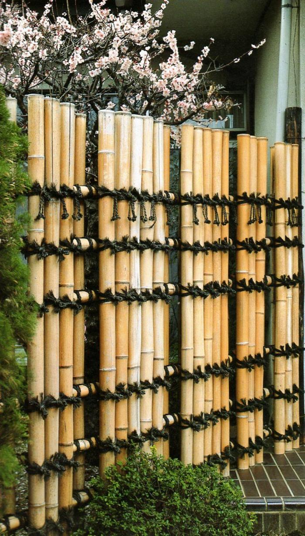 geniales ideas de decoracion de espacios exteriores y jardines con bambu, cañas de bambu decoracion, ideas decorativas bonitas para exteriores e interiores con bambuu, cañas bambu decoracion