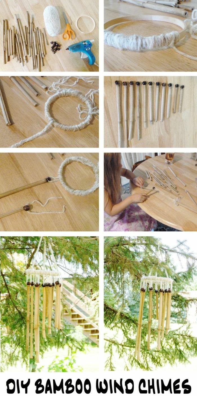 cañas de bambu decoracion, detalles decorativos paso a paso para decorar tu jardin, fotos de ambientes decorados con bambu