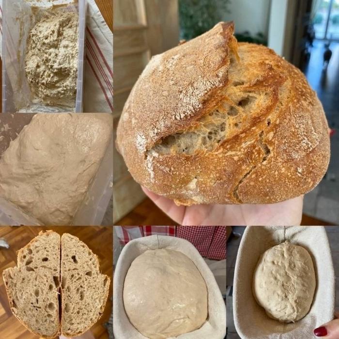receta de pan casero esponjoso hecho con kvas, las mejores ideas de recetas de panes saludables y ricos, fotos de recetas