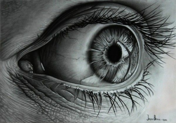precioso dibujo de ojo en blanco y negro, dibujos en blanco y negro, dibujos faciles de hacer, fotos de dibujos originales