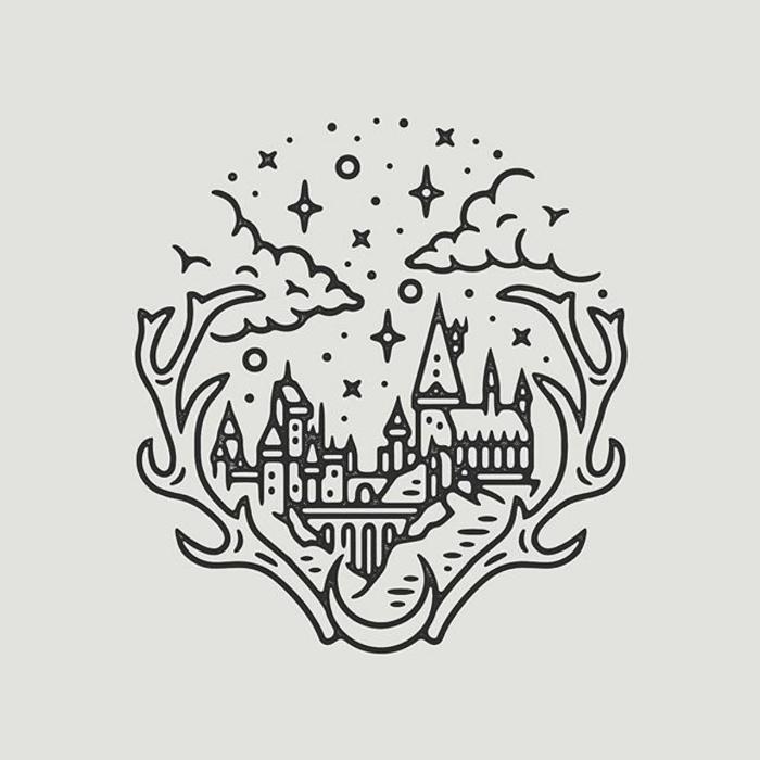 pequeños detalles inspirados en Harry potter para dibujar, dibujos de harry potter para colorear, fotos de dibujos chulos