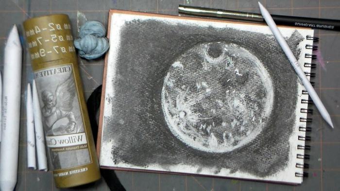 dibujos en blanco y negro, dibujos faciles de hacer, dibujos de la luna, fantasticas ideas de fotos en blanco y negro