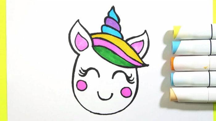 pequeño dibujo en colores, dibujos para colorear de unicornios, como dibujar un unicornio, fotos de dibujos de unicornios