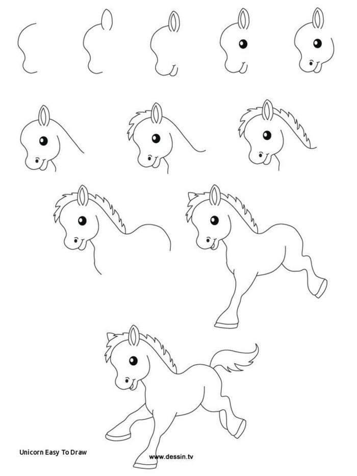 dibujos para colorear de unicornios, tutoriales de dibujos originales y divertidos, dibujos de unicornios diivertidos y simpaticos