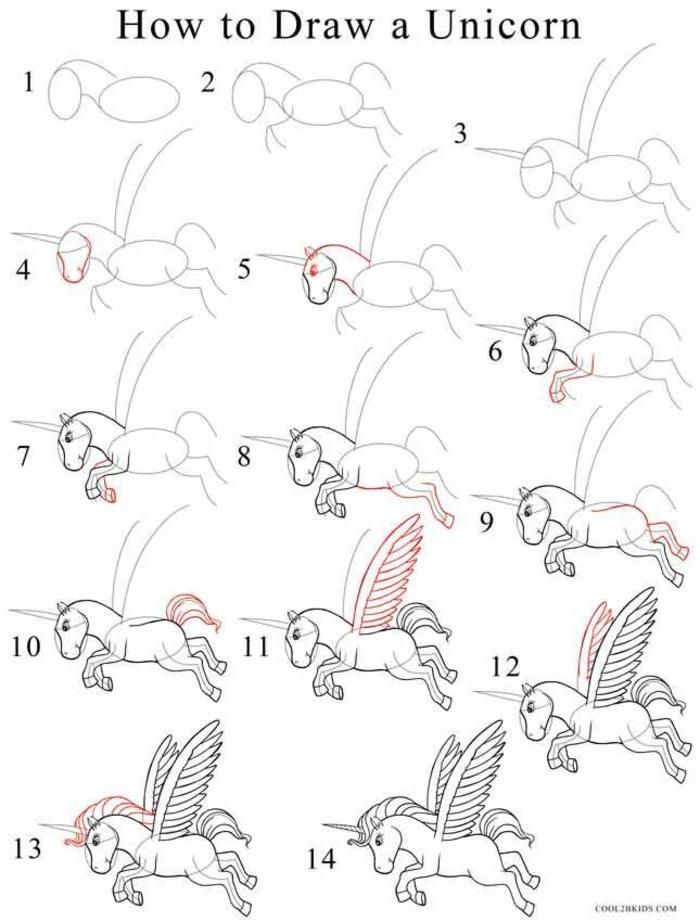 tutoriales de dibujos chulos para peuqeños y adultos, dibujos de unicornios para pintar, geniales ideas sobre como dibujar un unicornio