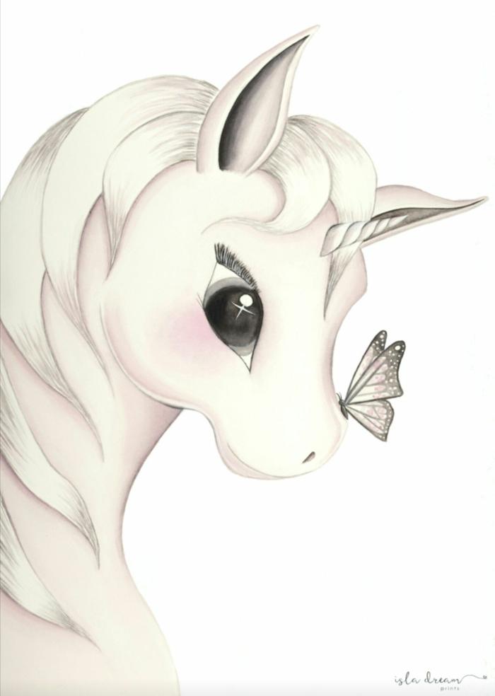 dibujos kawaii para rdibujar y colorear, las mejores ideas de dibujos originales, dibujos de unicornios para pintar, aprender a dibujar paso a paso