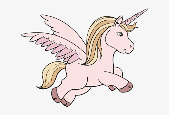 angelito unicornio, originales ideas de dibujos para colorear de unicornios, fotos de dibujos simpaticos para los niños