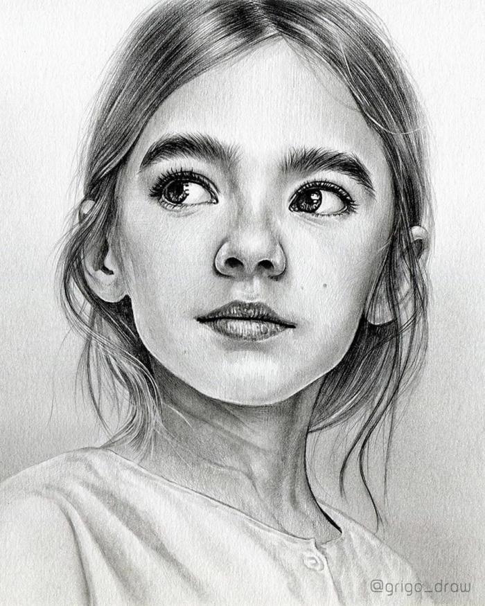geniales ideas de dibujos de niñas y mujeres, dibujos en blanco y negro, dibujos faciles de hacer, fotos de dibujos chulos
