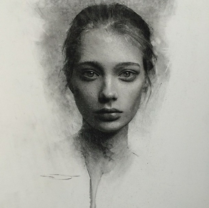 dibujos de paisajes, dibujos realistas de personas, fotos de dibujos chulos y realistas, dibujos de mujeres con gran profundidad