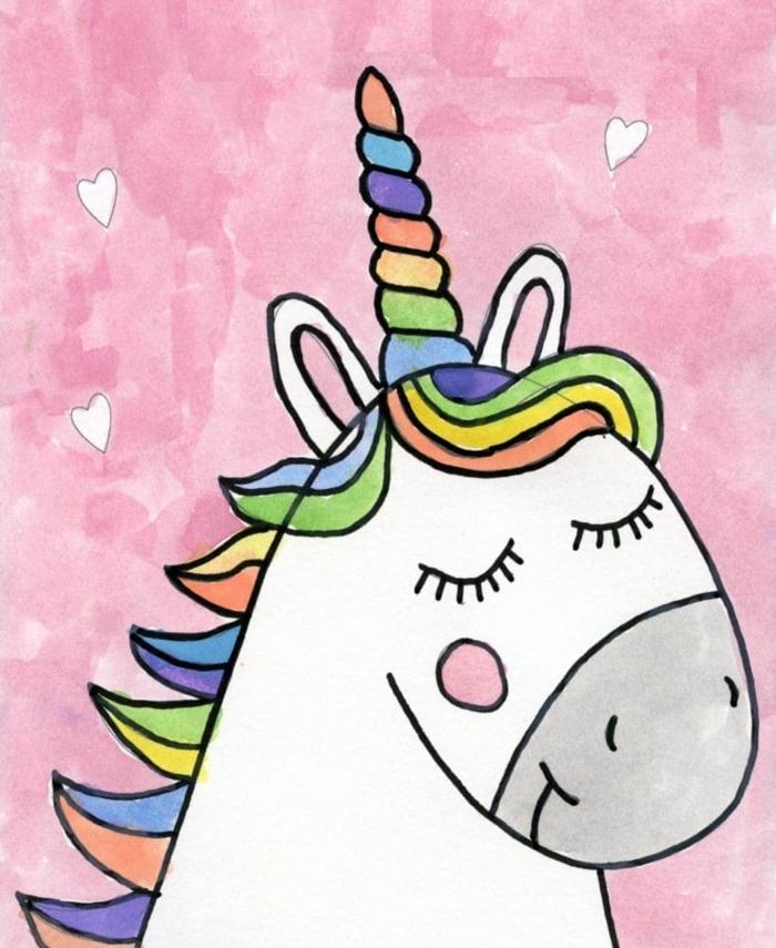 como dibujar un unicornio kawaii facil, dibujos kawaii en bonitos colores fotos de dibujos simpaticos y faciles de hacer