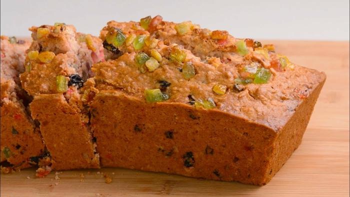 como hacer pan dulce con frutas secas, receta de pan casero esponjoso, fotos con ideas de recetas de comidas dulces