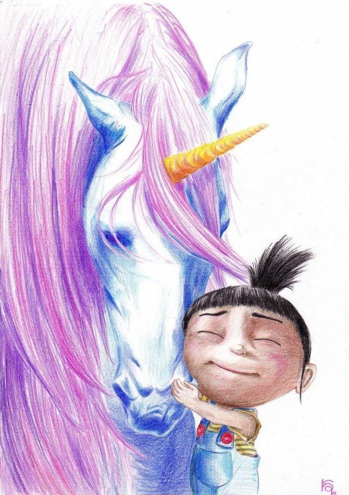 fascinantes ideas de dibujos con unicornios, como dibujar un unicornio, ideas de dibujos inspiradores para pequeños y adultos