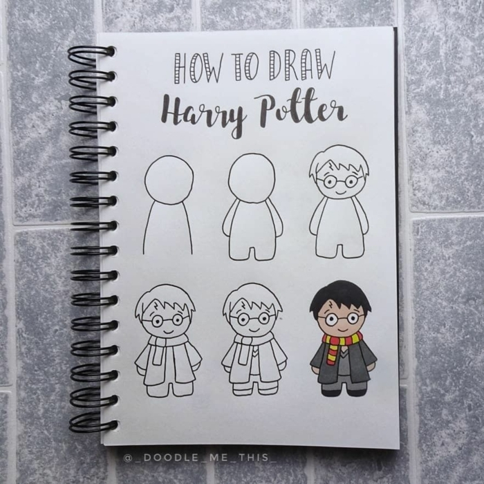 como dibujar a harry potter paso a paso, dibujos chulos y faciles de hacer, dibujos para colorear de harry potter bonitos
