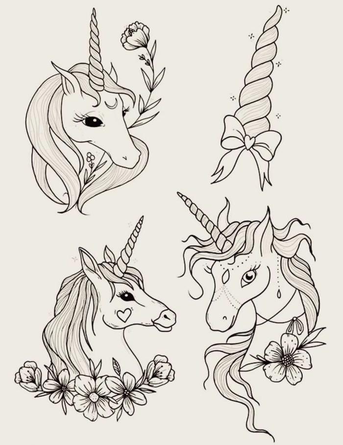 detalles para redibujar, dibujos para colorear de unicornios, fotos de dibujos unicornio especiales, ideas de dibujos chulos