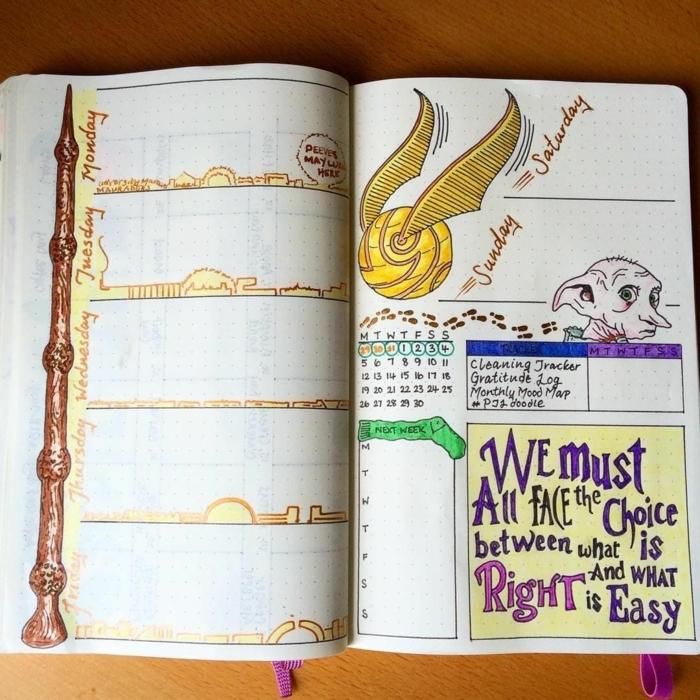 dibujos inspiradores en colores, fotos de dibujos mágicos inspirados en Hatty Potter, originales ideas de dibujos chulos