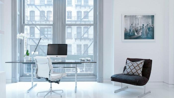 como amueblar un despacho moderno en estilo nordico, decoracion despacho en blanco y negro, ideas para decorar la oficina