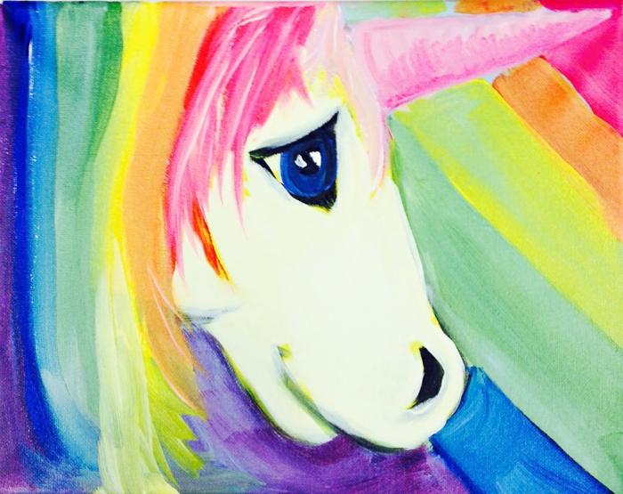 aucianntes ideas de dibujos criaturas magicas en colores, dibujos de unicornios para pintar, fotos de pinturas y dibujos