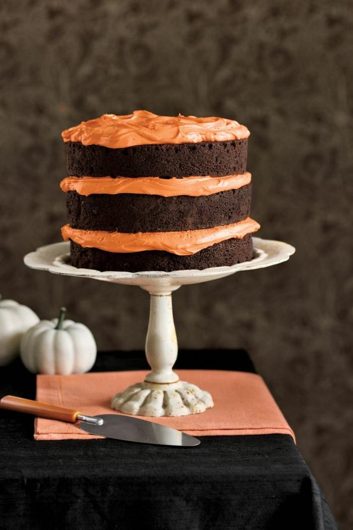 tarta de chocolate con crema de calabaza, ideas de recetas caseras de tartas, fotos de tartas decoradas tartas de cumpleaños originales para adultos