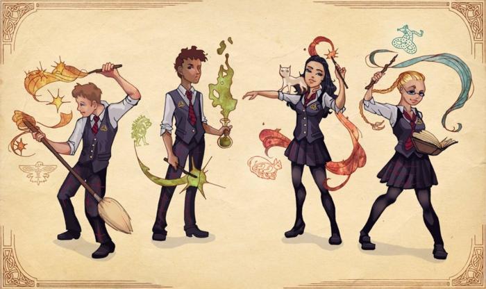 ideas de dibujos originales con los personajes de harry potter, dibujos de harry potter faciles, como dibujar a harry potter
