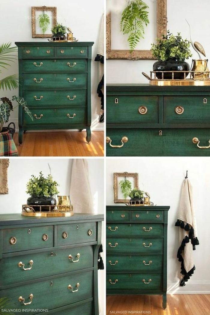 ideas de decoracion en estilo vintage, muebles pintados con pintura a la tiza, geniales ideas sobre como conseguir un efecto desgastado