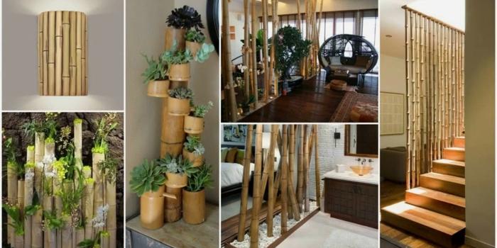 cañas de bambu decoracion, ideas decorativas bonitas para exteriores e interiores con bambuu, cañas bambu decoracion